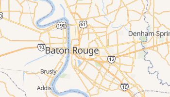 Mapa online de Baton Rouge para viajantes
