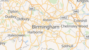 Mapa online de Birmingham para viajantes