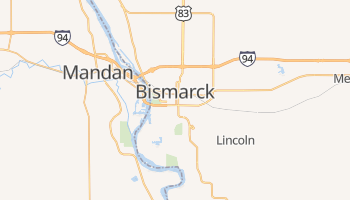 Mapa online de Bismarck para viajantes