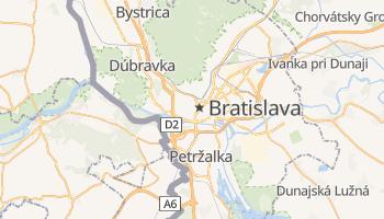 Mapa online de Bratislava para viajantes