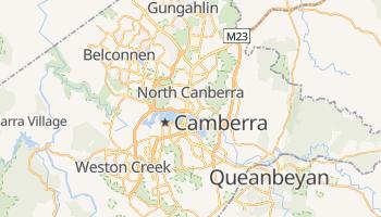 Mapa online de Canberra para viajantes