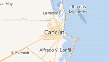Mapa online de Cancún para viajantes