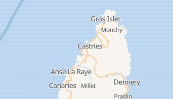Mapa online de Castries para viajantes