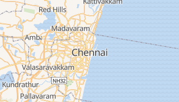 Mapa online de Chennai para viajantes