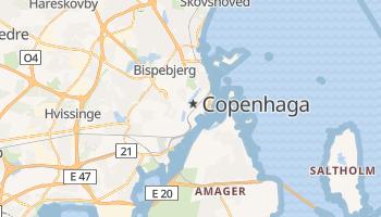 Mapa online de Copenhaga para viajantes
