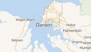 Mapa online de Darwin para viajantes
