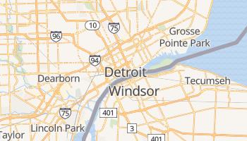 Mapa online de Detroit para viajantes