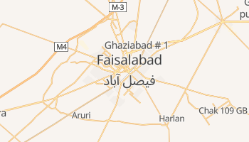 Mapa online de Faisalabad para viajantes