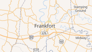 Mapa online de Frankfort para viajantes