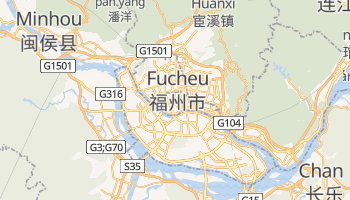 Mapa online de Fuzhou para viajantes