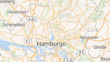Mapa online de Hamburgo para viajantes