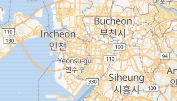 Mapa online de Incheon para viajantes