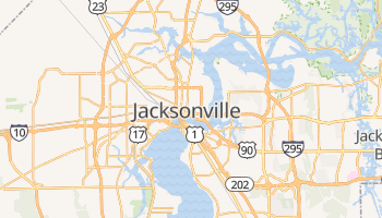Mapa online de Jacksonville para viajantes