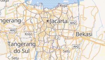 Mapa online de Jakarta para viajantes