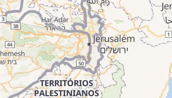 Mapa online de Jerusalém para viajantes