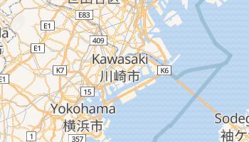 Mapa online de Kawasaki para viajantes
