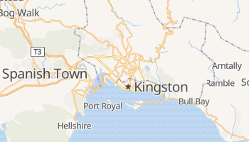 Mapa online de Kingston para viajantes