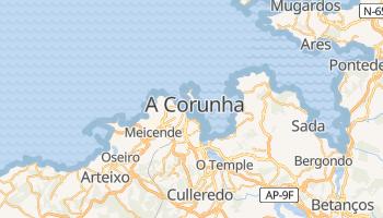 Mapa online de La Coruna para viajantes