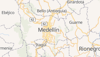 Mapa online de Medellín para viajantes