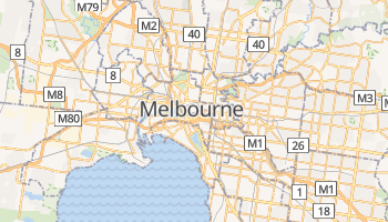 Mapa online de Melbourne para viajantes
