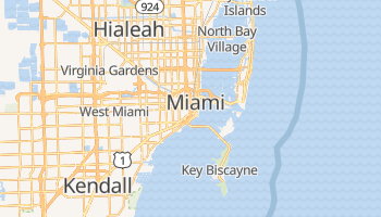 Mapa online de Miami para viajantes