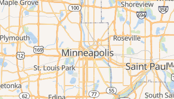 Mapa online de Minneapolis para viajantes