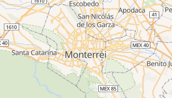 Mapa online de Monterrei para viajantes