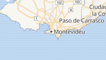 Mapa online de Montevidéu para viajantes