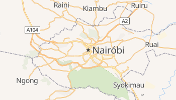 Mapa online de Nairobi para viajantes