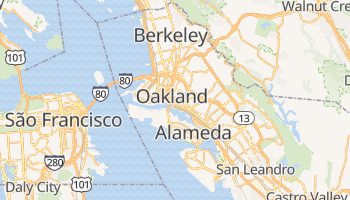 Mapa online de Oakland para viajantes