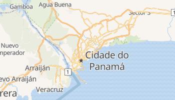 Mapa online de Panamá para viajantes