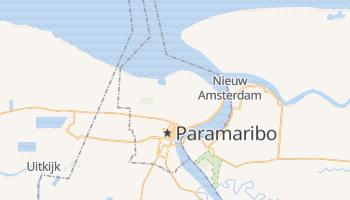 Mapa online de Paramaribo para viajantes