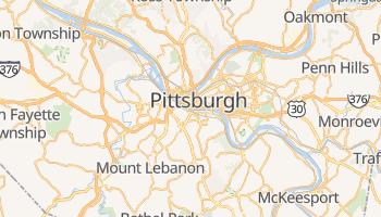 Mapa online de Pittsburgh para viajantes