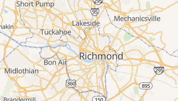 Mapa online de Richmond para viajantes