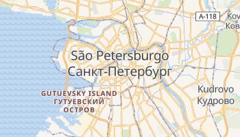 Mapa online de São Petersburgo para viajantes