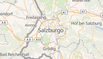 Mapa online de Salzburgo para viajantes