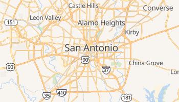 Mapa online de San Antonio para viajantes