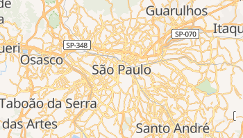 Mapa online de Sao Paulo para viajantes