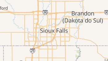 Mapa online de Sioux Falls para viajantes