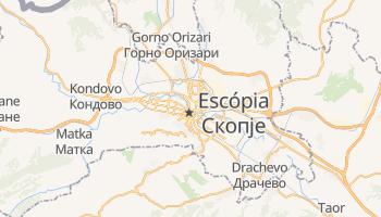Mapa online de Skopje para viajantes