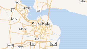 Mapa online de Surabaia para viajantes