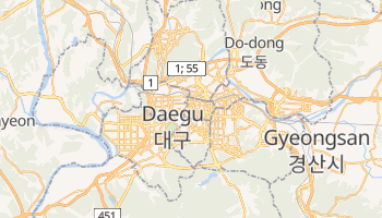Mapa online de Daegu para viajantes