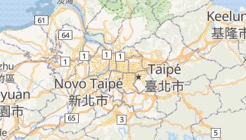 Mapa online de Taipé para viajantes
