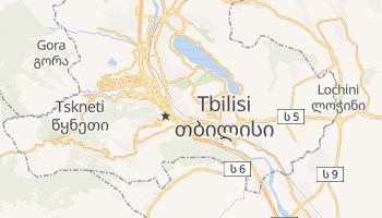 Mapa online de Tbilisi para viajantes