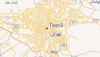 Mapa online de Teerão para viajantes