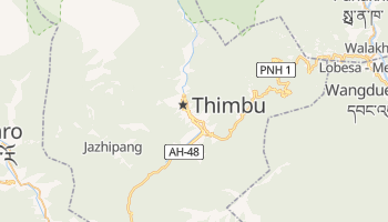 Mapa online de Thimbu para viajantes