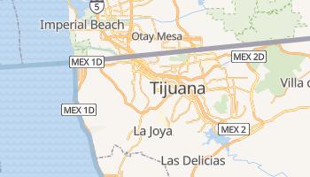 Mapa online de Tijuana para viajantes