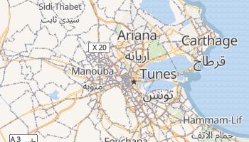 Mapa online de Tunes para viajantes