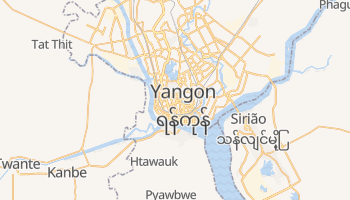 Mapa online de Yangon para viajantes