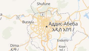 Аддис-Абеба - детальная карта